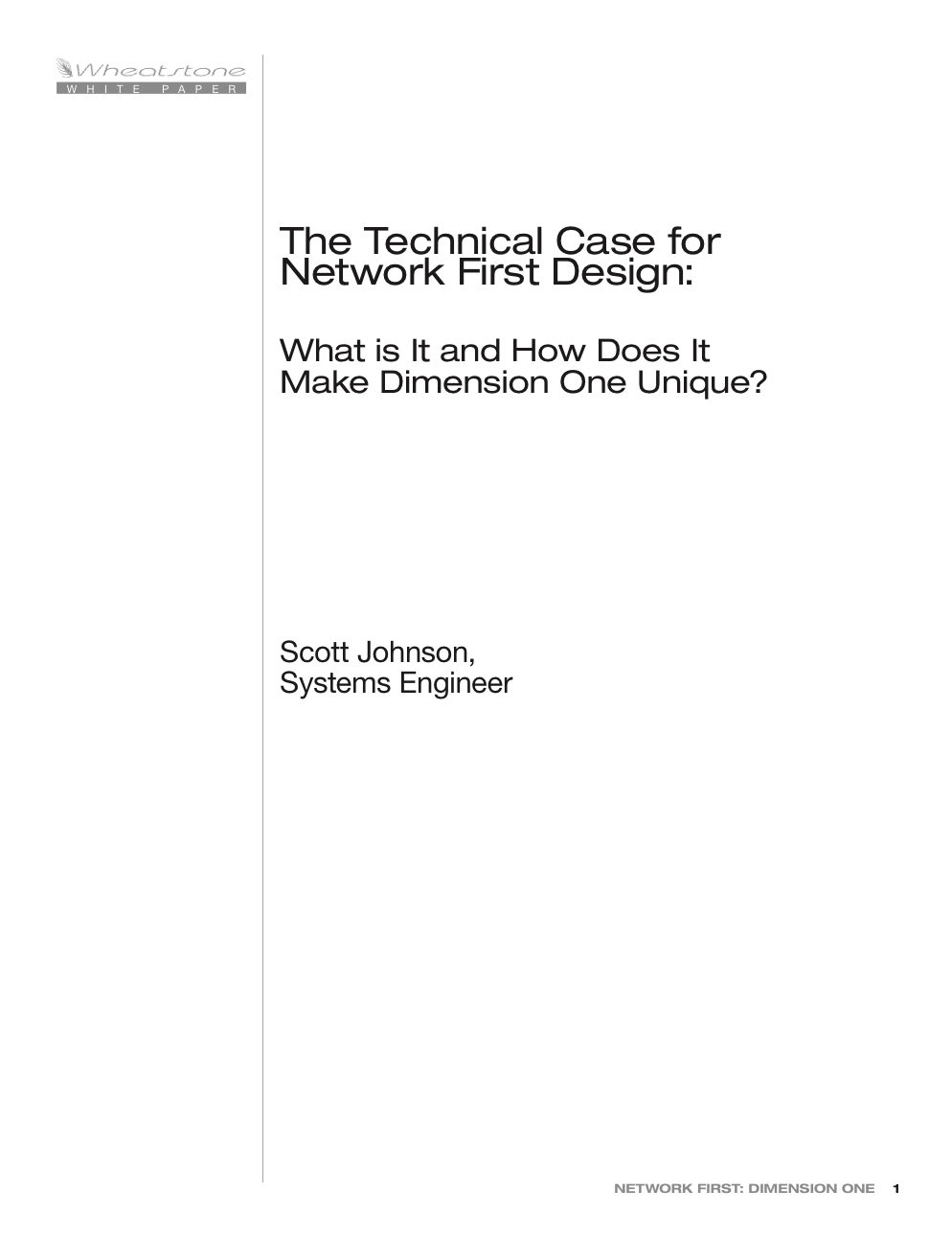 Wheatstone The Technical Case for Network First White Paper